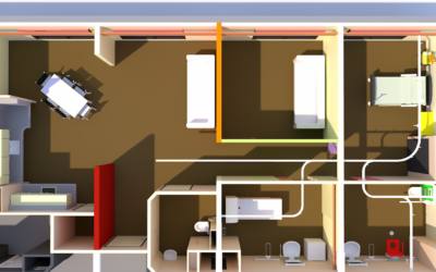 Aménagement d'un appartement d'évaluation domotique (AED) au CRRF de Noth (23).